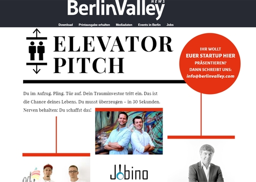 Jobino in den Berlin Valley News